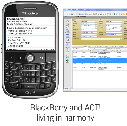 ACT! and BlackBerry